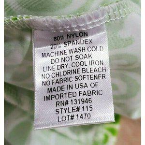 Jude Connally Dresses - Jude Connally Womens Lisa Green Print Dress Medium